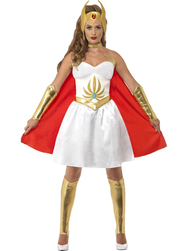 Sexy HeMan Superhero She-Ra Ladies Fancy Dress Costume Party Outfit