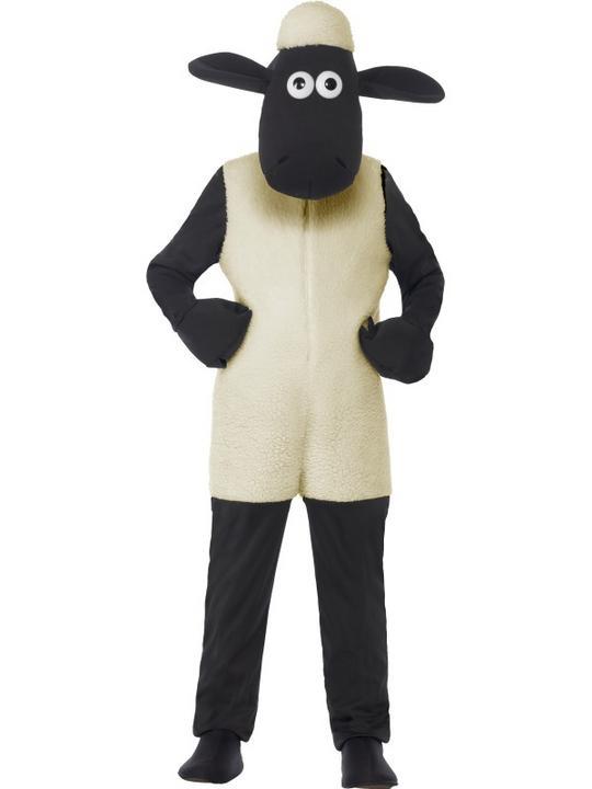 Kids Shaun The Sheep Girls / Boys Book Week Fancy Dress Costume Party Outfit Thumbnail 1