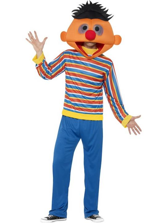 Men's Sesame Street Ernie Fancy Dress Costume Thumbnail 1