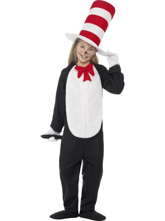 Kids DR SEUSS Cat In The Hat Boys Book Week Fancy Dress Costume Party Outfit Thumbnail 2