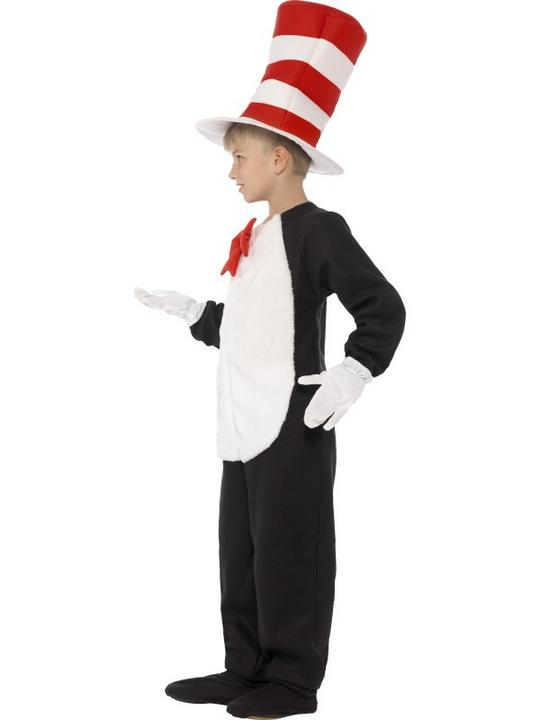 Kids DR SEUSS Cat In The Hat Boys Book Week Fancy Dress Costume Party Outfit Thumbnail 4