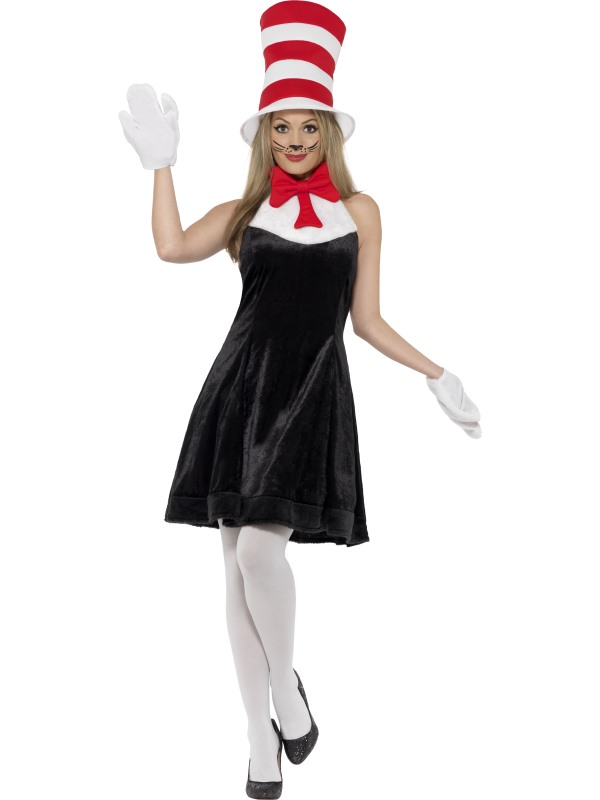 Ladies Cat in the Hat Fancy Dress Costume