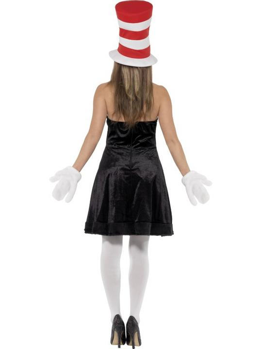 Ladies Cat in the Hat Fancy Dress Costume Thumbnail 2