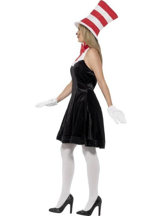 Ladies Cat in the Hat Fancy Dress Costume Thumbnail 3