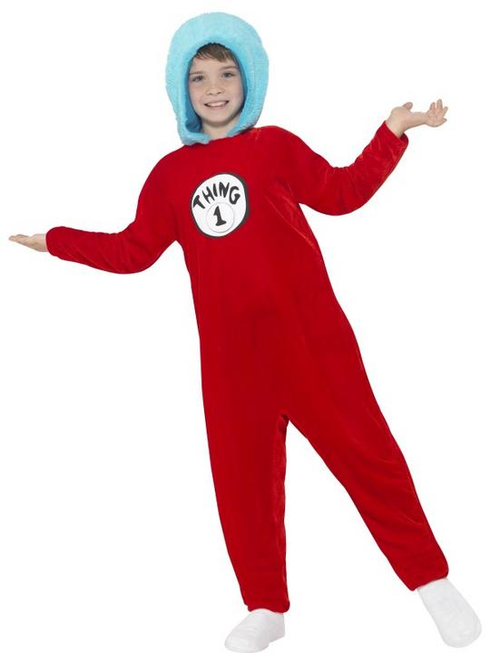 Kids Book Week Thing 1 or Thing 2 Costume Fancy Dress Outfit Thumbnail 1