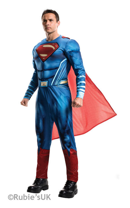 MENS SUPERMAN - DAWN OF JUSTICE Fancy Dress Costume Thumbnail 1