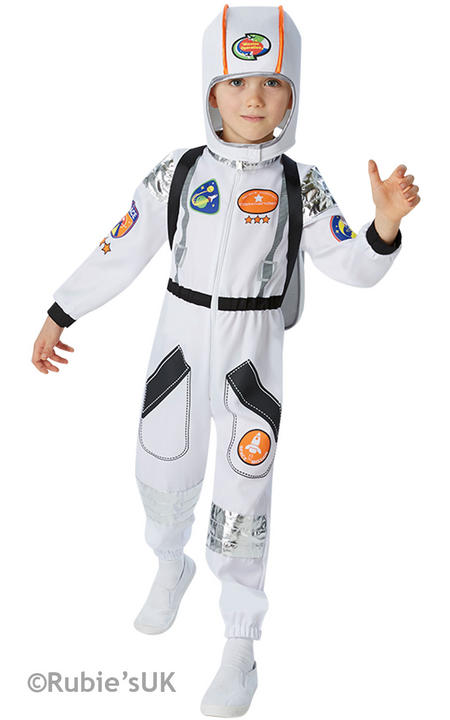 Boys Book Week Astronaut Costume Kids Fancy Dress Outfit Thumbnail 1