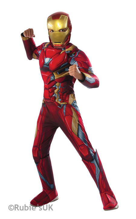 Boy's Iron Man Deluxe - Civil War Fancy Dress Costume Thumbnail 1
