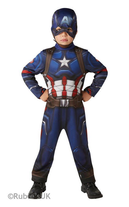 Boy's Classic Captain America Civil War Fancy Dress Costume Thumbnail 1