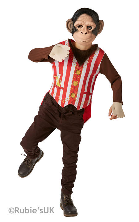 Boy's Mr Monkey Fancy Dress Costume Thumbnail 1