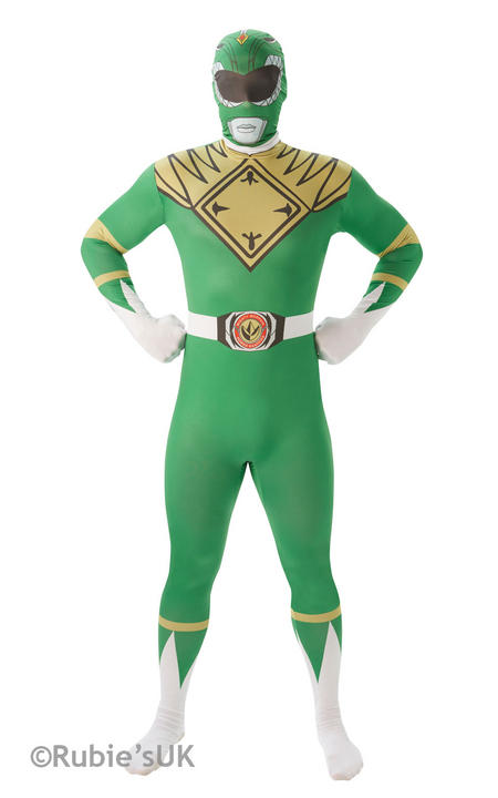 Men's Green Ranger 2nd Skin Fancy Dress Costume Thumbnail 1