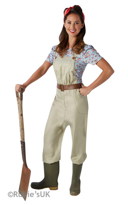 Women's Land Girl Fancy Dress Costume Thumbnail 1