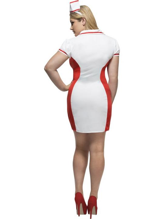 Women's Fever Curves Nurse Fancy Dress Costume Thumbnail 2