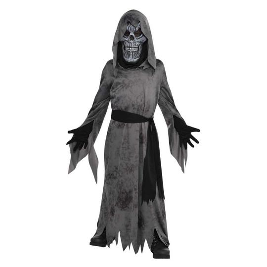 Boys Halloween Ghastly Ghoul Costume Kids Horror Fancy Dress Outfit Thumbnail 1