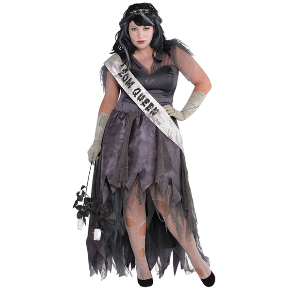 Womens Plus Size Homecoming Corpse Dress Ladies Fancy Dress Costume
