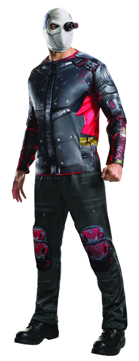 Men's Deadshot Suicide Squad Fancy Dress Costume Thumbnail 1