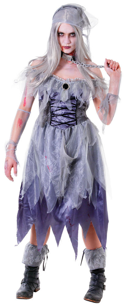 Women's Zombie Pirate Lady Fancy Dress Costume