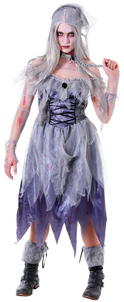Women's Zombie Pirate Lady Fancy Dress Costume