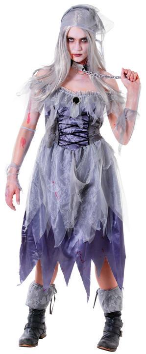 Women's Zombie Pirate Lady Fancy Dress Costume Thumbnail 1
