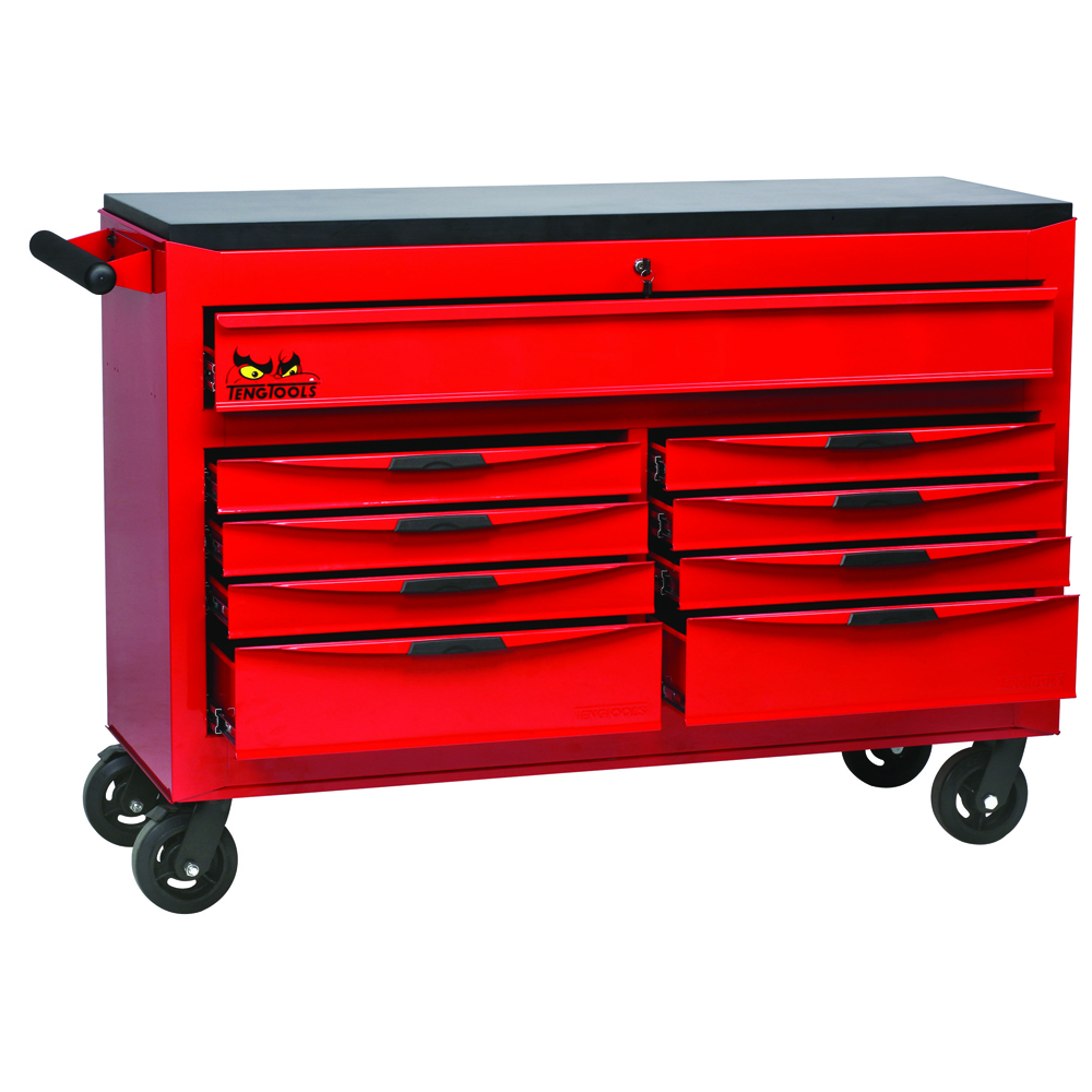Teng tools tcw809n 53 9 drawer 8 series roller cabinet for Sideboard roller