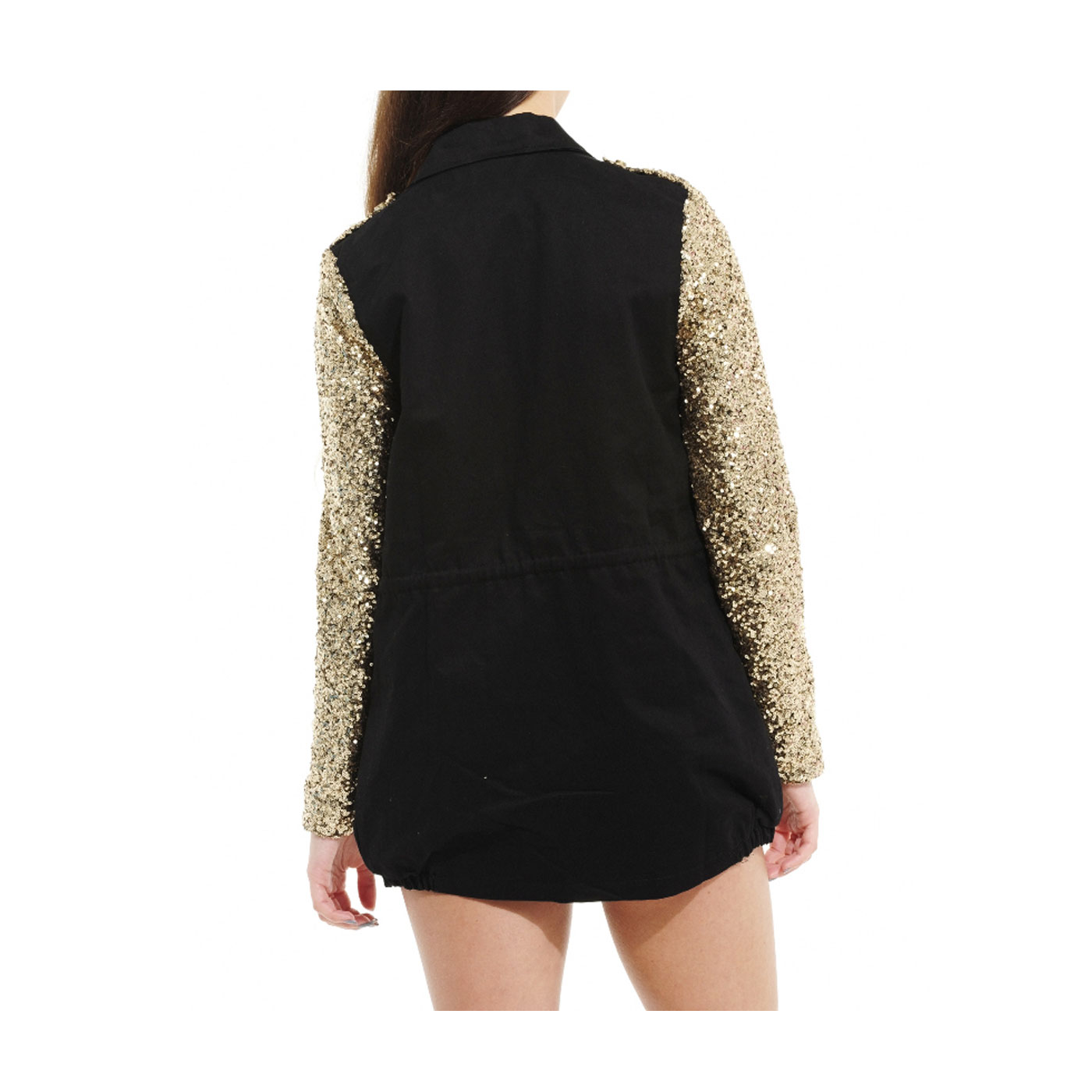 Ladies black/white/yellow sequin jacket by Joseph Ribkoff, uk 16 The jacket has long sleeves with a lapel style neckline and a zip fasten front but please note some of the sequins have come off and it.
