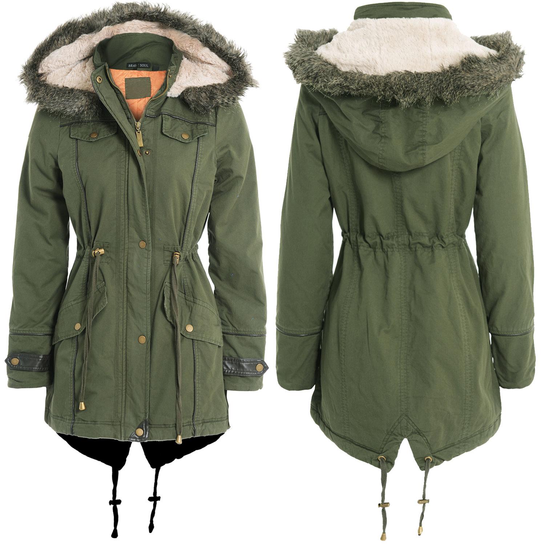 New Womens Ladies Oversized Fishtail Parka Coat Jacket
