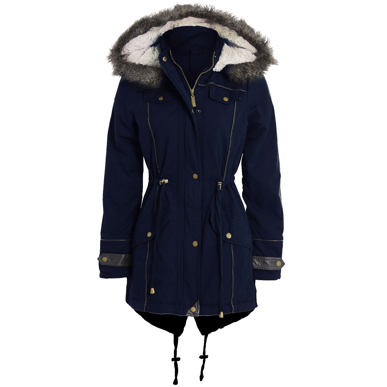 Women Parka Coats With Hood - Coat Racks