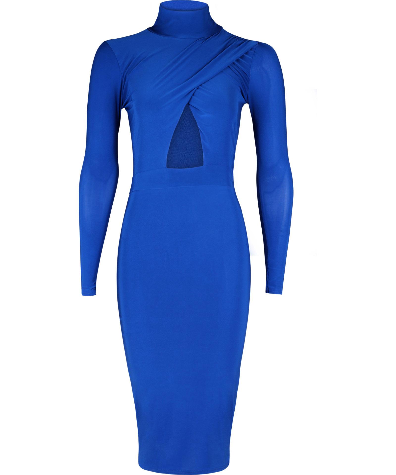 View Item High Neck Slinky Bodycon Dress