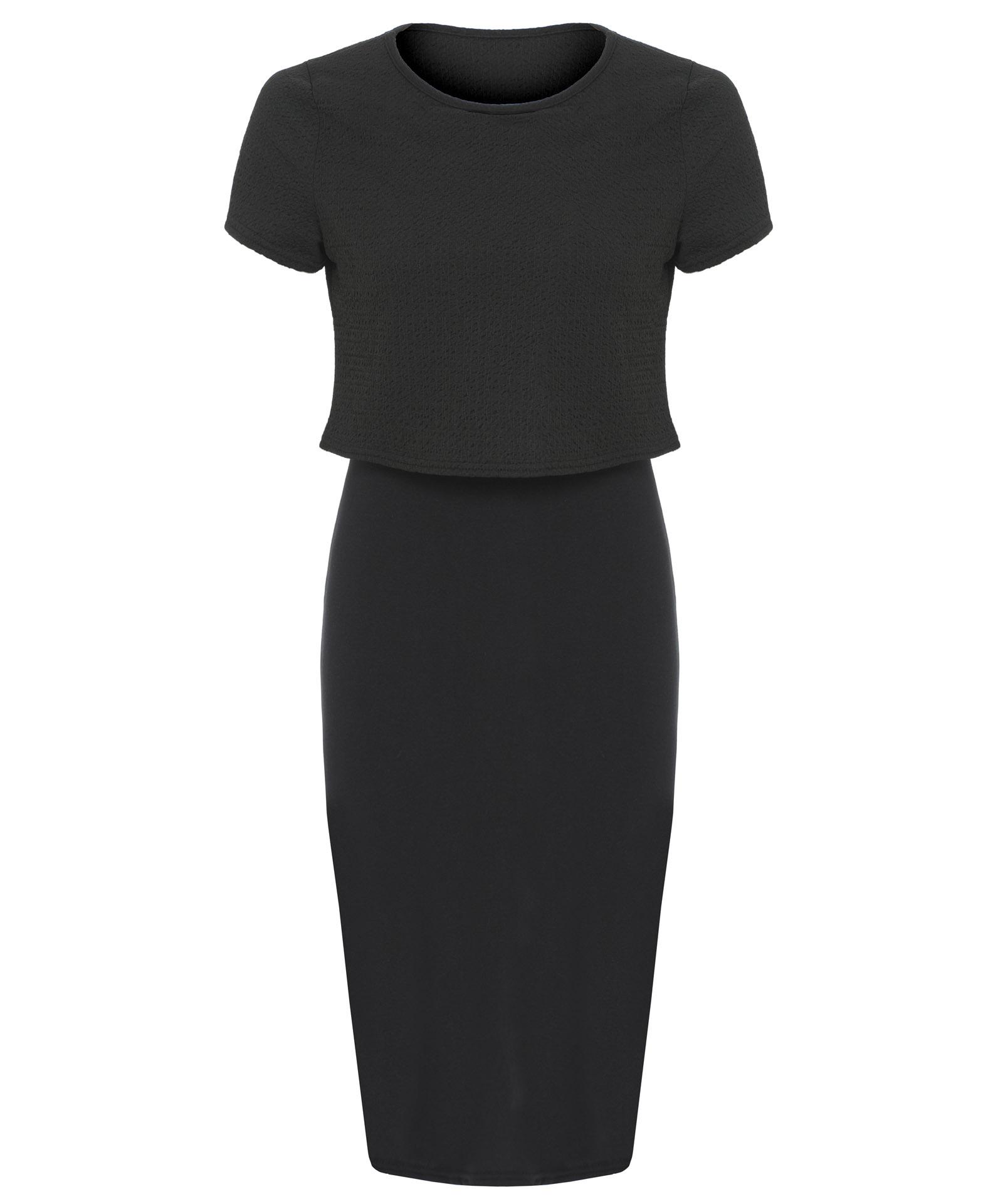 View Item Crop Layered Midi Dress Plus Size