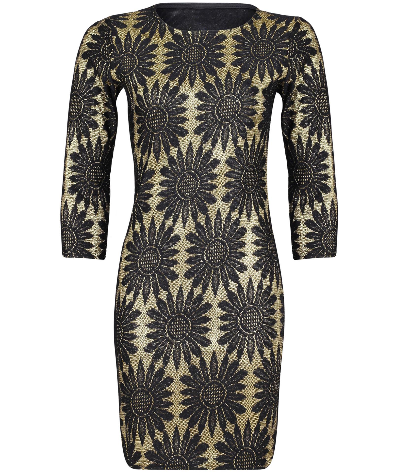 View Item Glitter Sunflower Bodycon Dress