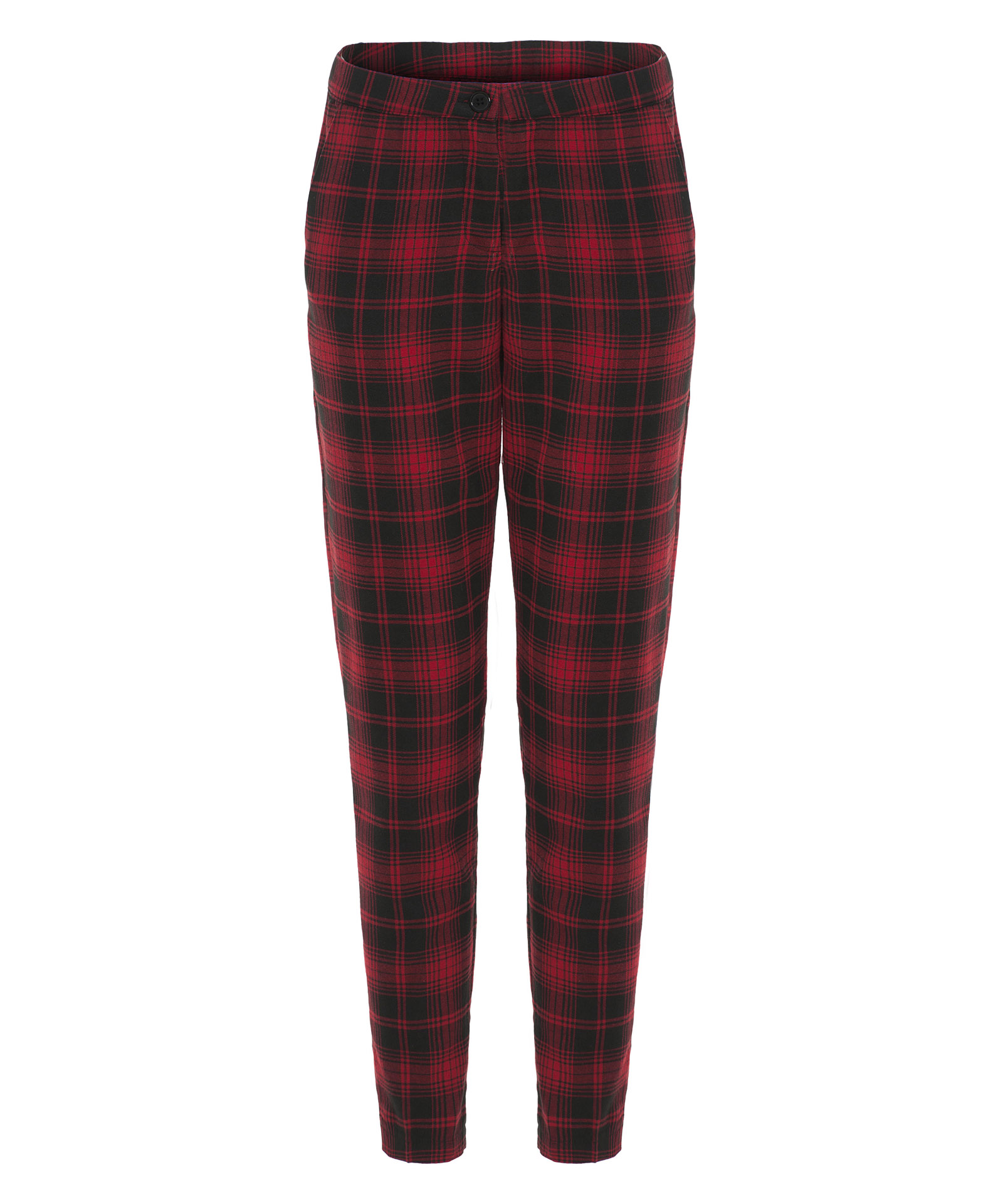 View Item Tartan Print Tapered Pants