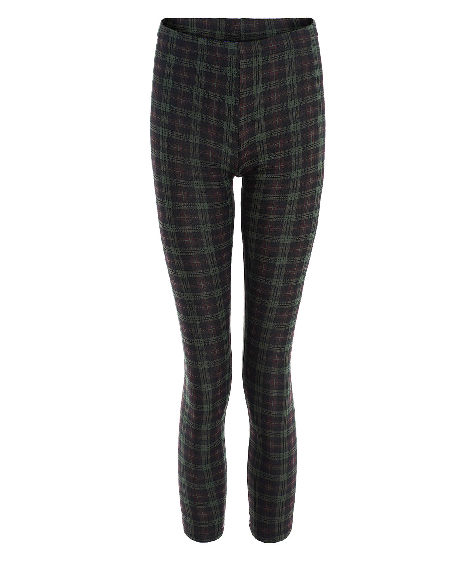 View Item Tartan Print Stretchy Leggings