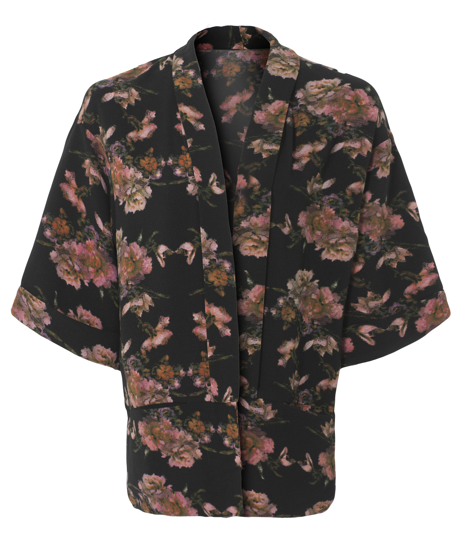 View Item Floral Print Kimono Printed Jacket Open Jacket By Own The Runway