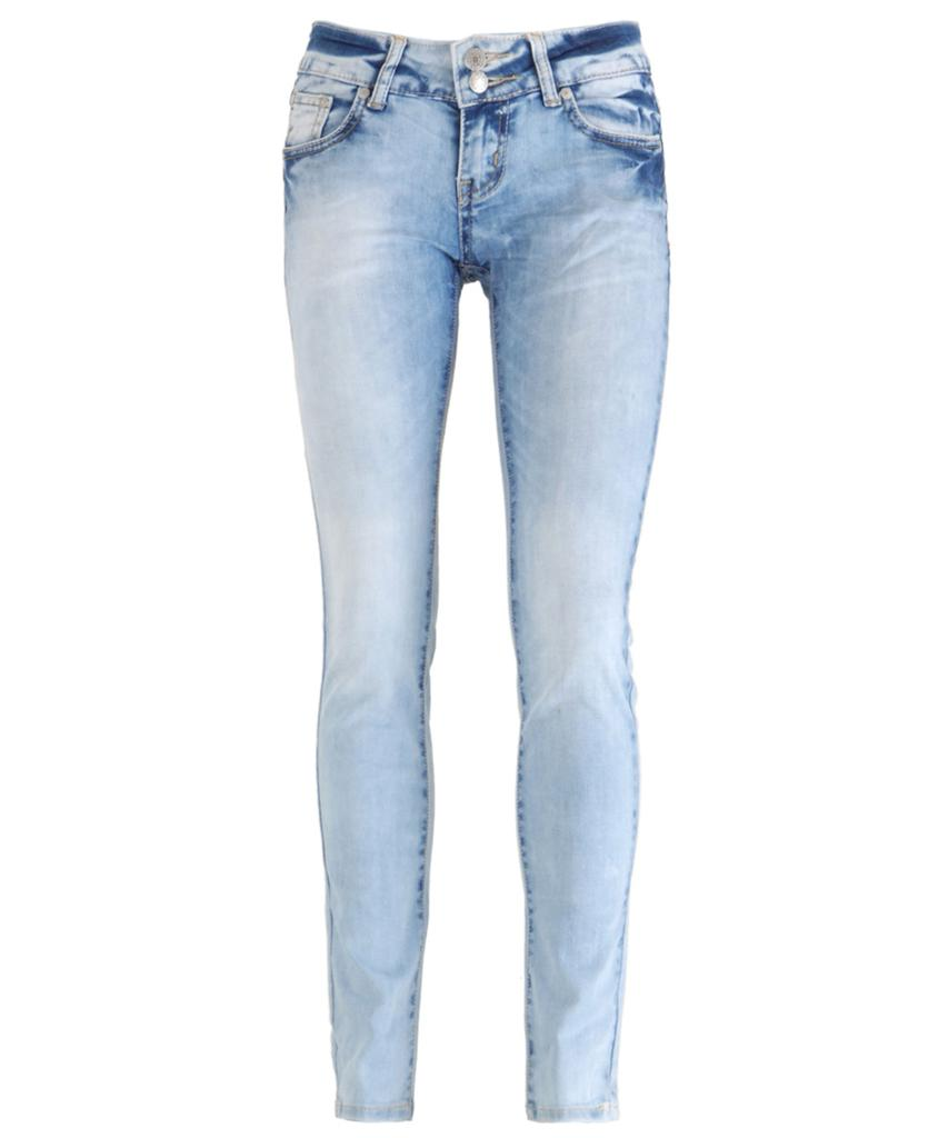 new women light blue wash faded distressed skinny slim fit