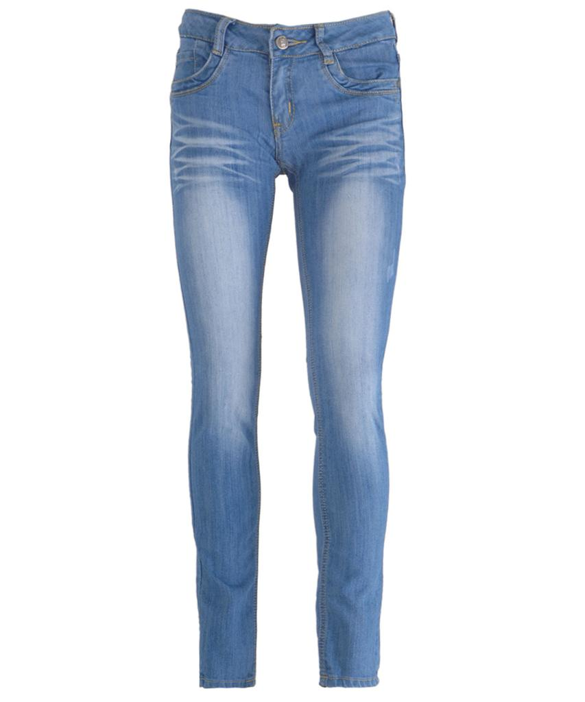 New Women Light Blue Wash Faded Distressed Skinny Slim Fit Denim Jeans UK 6-14 | eBay
