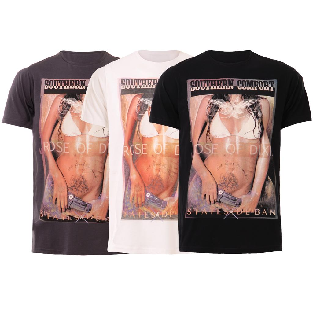 New-Mens-Southern-Sexy-Bikini-Graphic-Print-Casual-T-shirt-Top-UK-S-XL