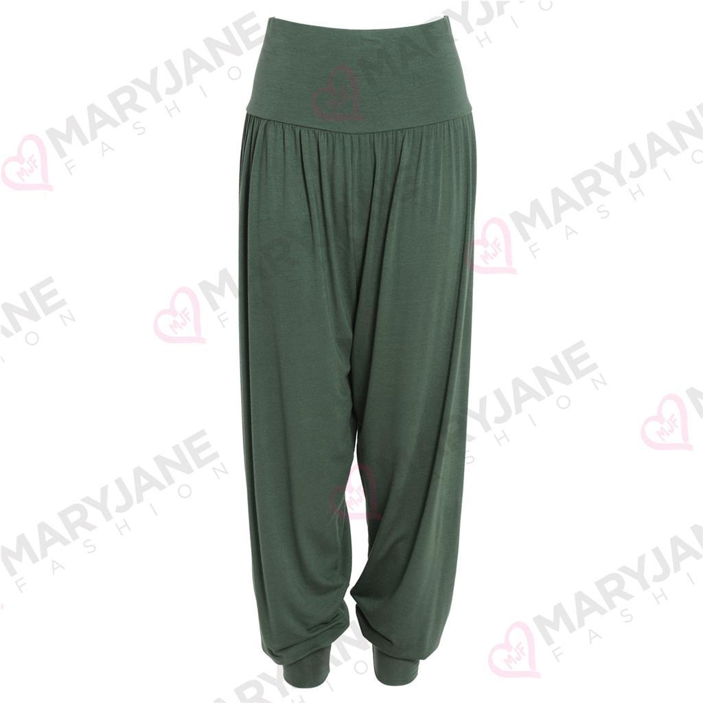Pantalon Sarouel Femme Longueur Cheville Resserré Jersey