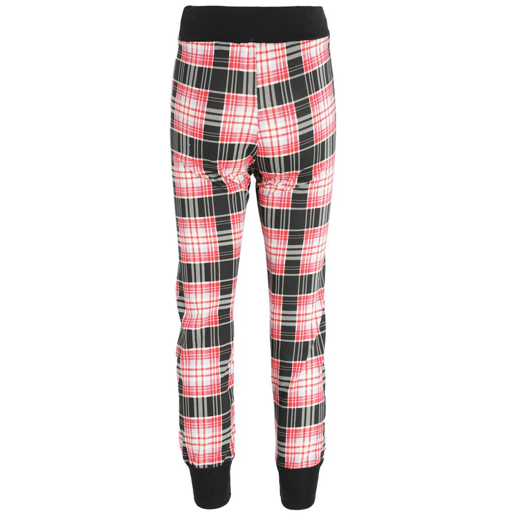 Check Plaid Pattern Print Cuffed Jogger Hareem Pants Trousers