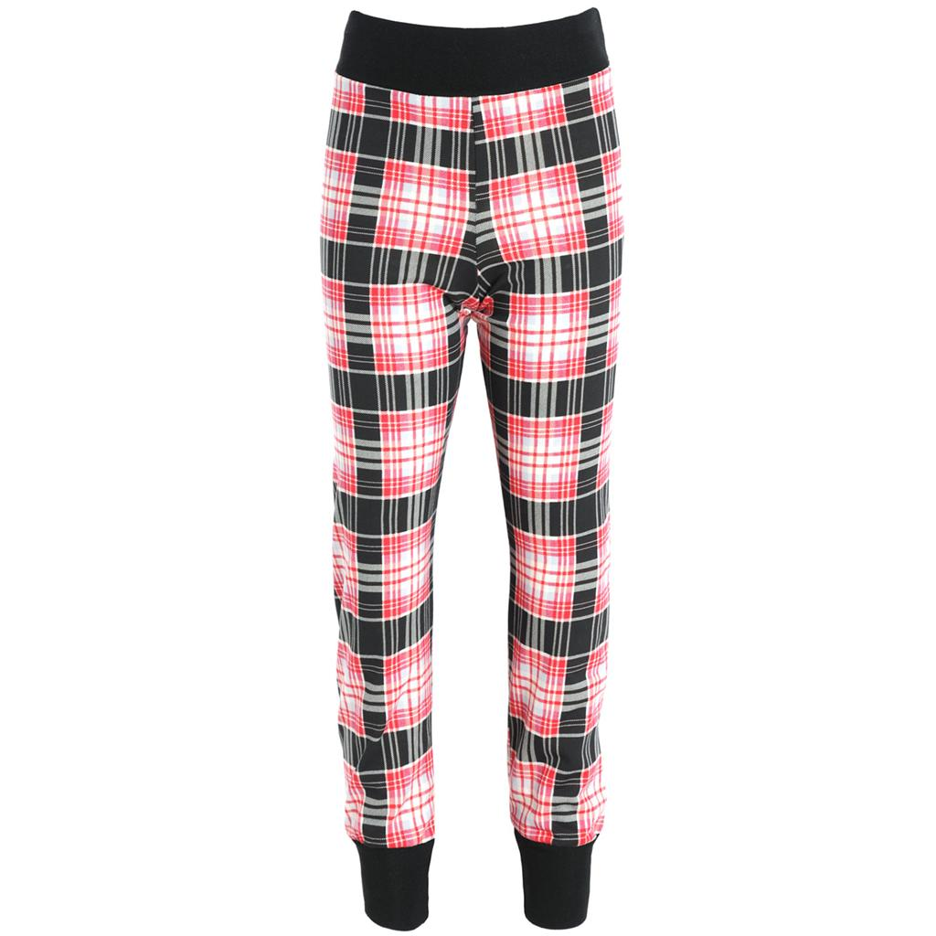 Wonderful  Checked Plaid Skinny Slim Fitted Stretch Pants Punk Trousers Jeans
