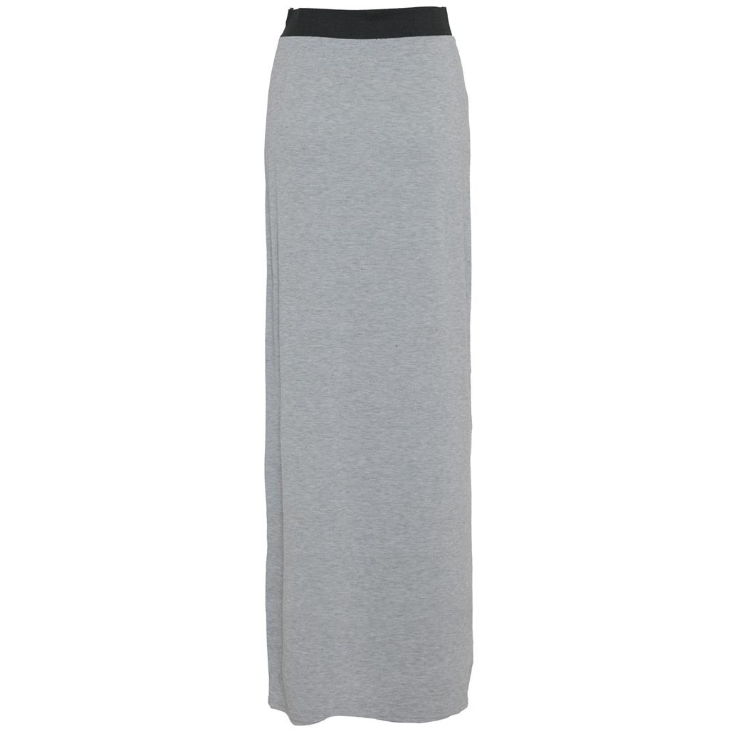 Ladies-Womens-Long-Gypsy-Dress-Jersey-Plain-Straight-Maxi-Skirt-Stretch-Waist