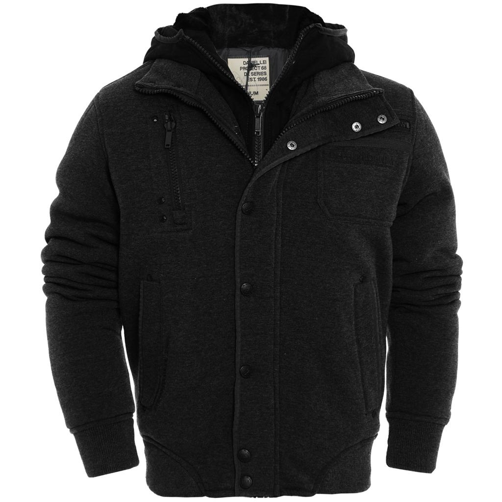 880124d1465 Details about Mens DL Project Padded Fur Lined Quilted Thick Hoodie