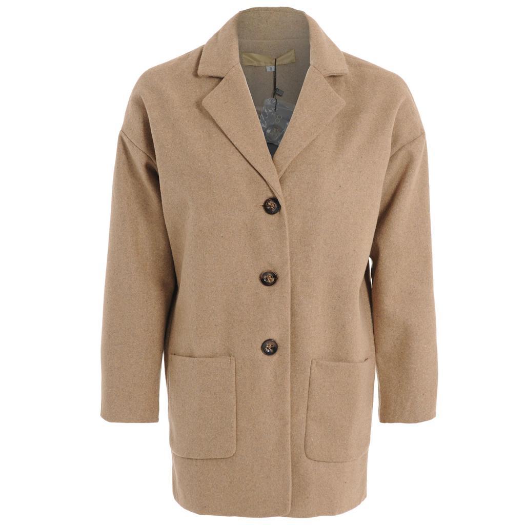 Womens Ladies Boyfriend Casual Oversized Blazer Jacket ...
