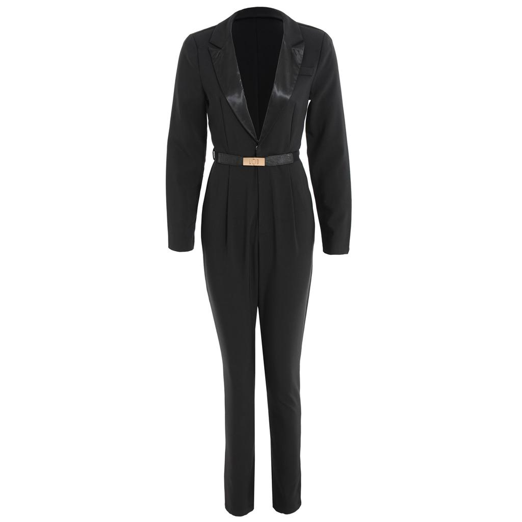 Womens Ladies Tailored Tuxedo Party Long Sleeved Going Out Jumpsuit 8 10 12 14 | EBay