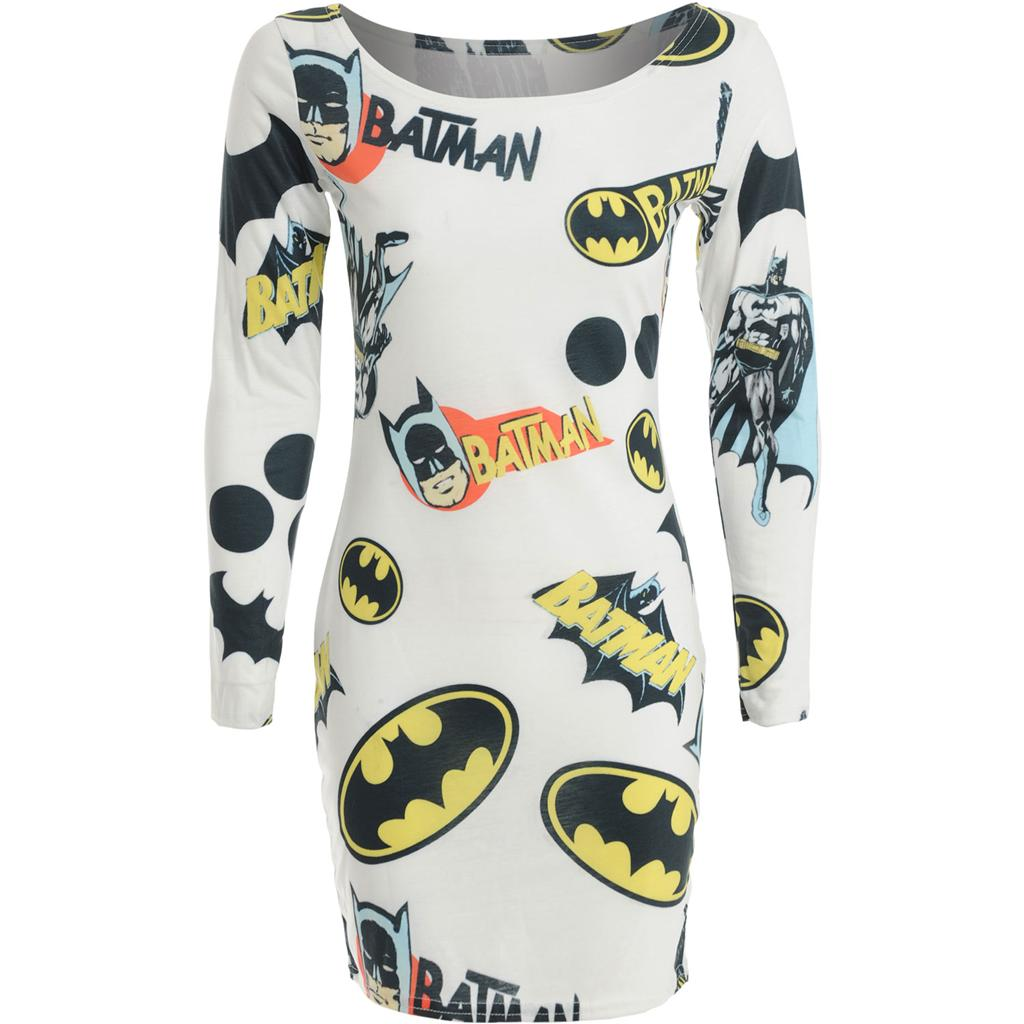 Womens-Ladies-Celeb-Cheryl-Cole-Cartoon-Superhero-Batman-Print-Bodycon-Dress