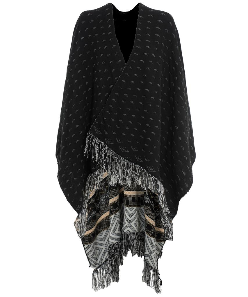 View Item Reversible Tassel Fringe Shawl Wrap