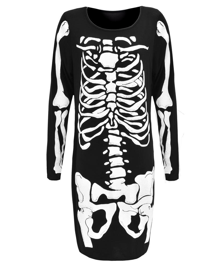 View Item Skeleton Ribcage Bodycon Dress