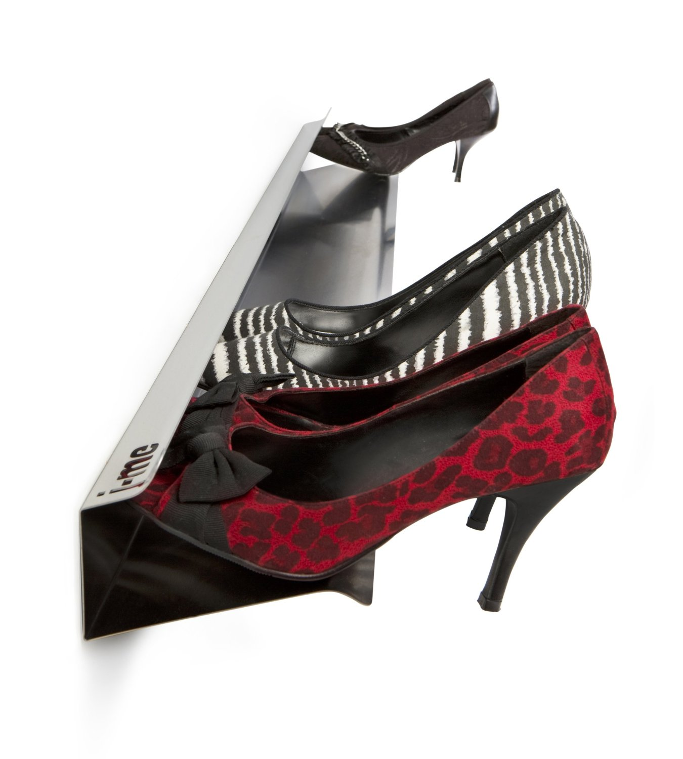 J me design stylish 1200mm high heel shoe rack display Stylish shoe rack