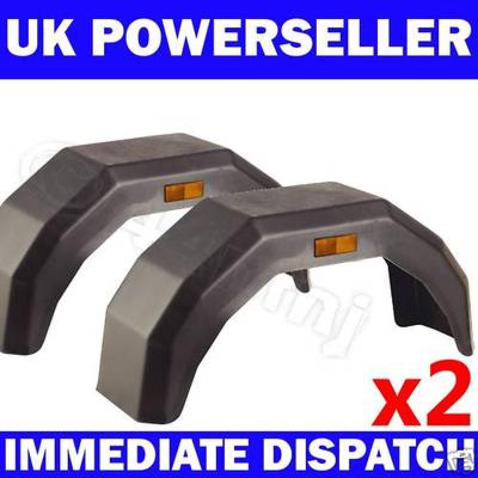 2x Plastic Trailer Mudguards Mud Guards 10 Quot 12 Quot Wheel Ebay