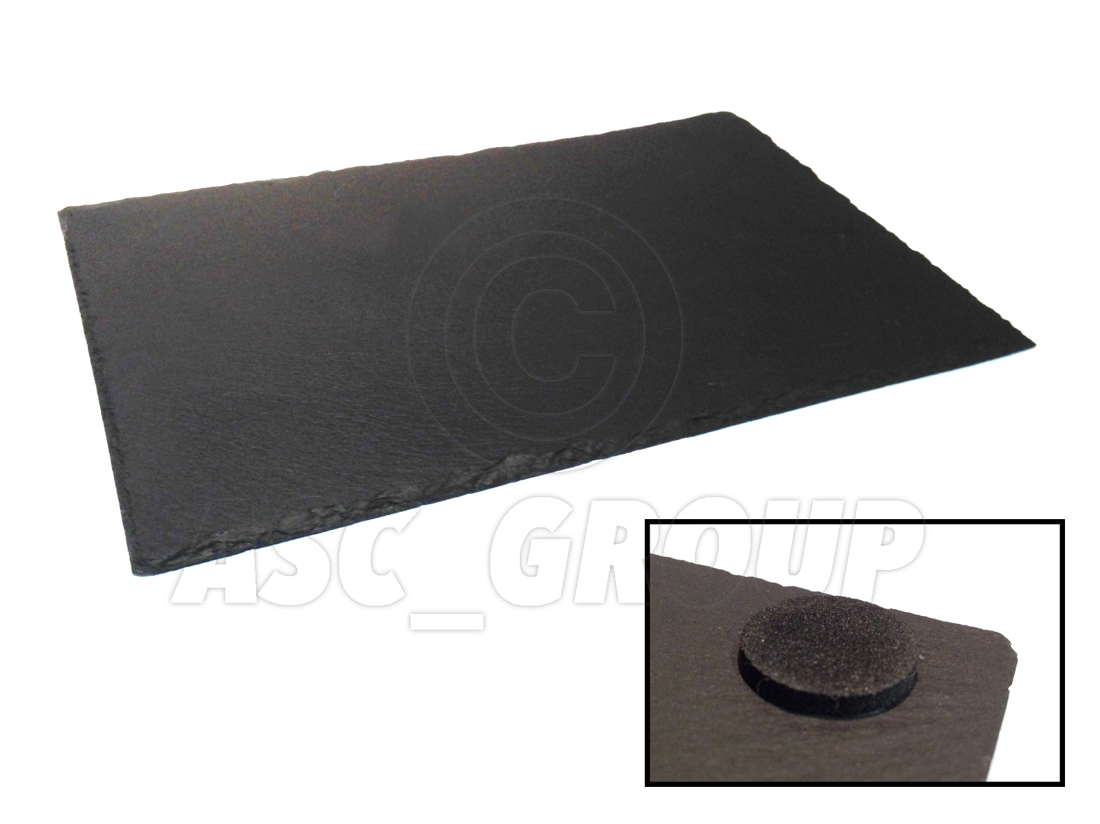 6x Rectangle Slate Place Table Mats Rustic Design Natural