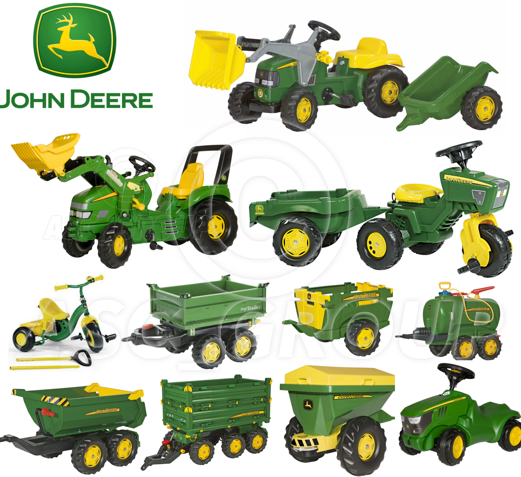 rolly toys john deere tracteurs pdales remorques loader tanker